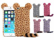 "Fashion 3D Cute Leopard With Tail PC Case pouch Cover Skin for 4.7"" iPhone 6"