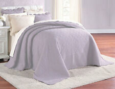 100% Cotton Quilted Bedspread Scalloped in Lavender Purple Twin Full Queen King