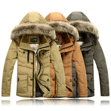 New winter Coats Men Long Hairy Collar Thick White Duck Down Outdoor Sportswear