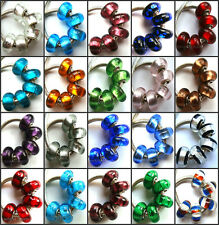 50pcs Wholesale Lampwork Murano Glass Beads Fit European Charm Bracelet NO.12