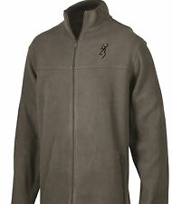 BROWNING BUCKMARK MEN'S FLEECE JACKET - CHARCOAL GRAY COAT