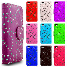 Diamante Libro Billetera Flip Phone Funda Protectora Para Todos Samsung Galaxy Y Apple Modelos