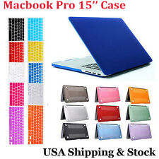 """Keyboard Skin& Rubber Hard Case Cover For Apple Macbook Pro 15"""" A1286 Non Retina"""