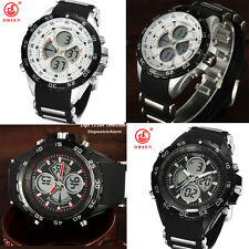 New OHSEN Mens Watches Military Quartz Alarm Date Day Chronograph Outdoor Sports