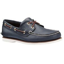 Men's Timberland Classic 2 Eye Boat Shoe Blue Navy Smooth 74036