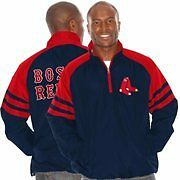 Boston Red Sox Navy Blue Come Back 1/4 Zip Jacket
