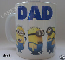 """DAD ( MUM ) YOU'RE ONE IN A MINION Minions """" Despicable Me """" Coffee Mug"""