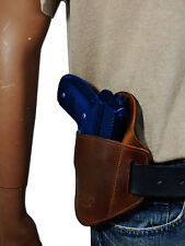New Barsony Brown Leather Gun Quick Slide Holster Ruger Star Full Size 9mm 40 45