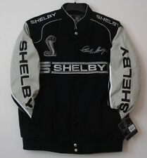Authentic Caroll Shelby Racing Embroidered Cotton Jacket JH Design Black Mustang