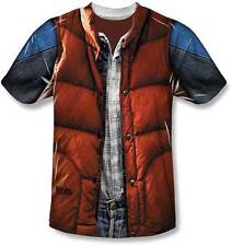 Back To The Future Marty McFly Vest Sublimated LIC NWT Adult T-Shirt -