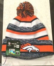 NEW ERA DENVER BRONCOS AUTHENTIC ON FIELD KNIT BEANIE CAP ORANGE NAVY BLUE WHITE