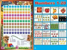 New Laminated number 1-100 number 1-20 Educational Kids Poster Wall Chart
