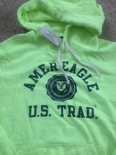 NWT Mens AMERICAN EAGLE Graphic Hoodie Sweatshirt Flourescent Green