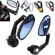 """7/8"""" Aluminum Rear View Side Mirror Handle Bar End Oval For Motorcycle 22mm"""