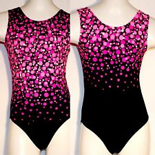 New Girls Pink Bubbles Gymnastics,Dance, Fitness, Lycra Leotard,TLV Ice Fashion
