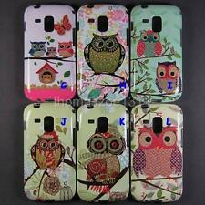 Soft Owl Case Back Cover Skin For Samsung Galaxy Trend Plus S7580 S Duos 2 S7582