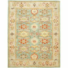 Safavieh Hand-Tufted Heritage Light Blue / Ivory Wool Area Rugs - HG734A