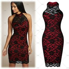 Women Sexy Black Lace Cocktail Evening Party Prom Formal Wedding Short MiniDress