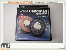 "Weiss Germany Fiberglass Measuring Tape ""The Best Measure Tape"" Option: 30m/50m"