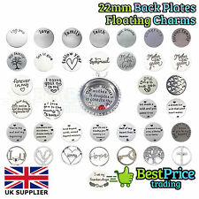 22mm Floating Window Steel Back Plate Disc For 30mm Living Memory Charm Locket