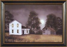 HOT SUMMER NIGHT by Billy Jacobs 15x21 FRAMED PRINT Farm House Full Moon