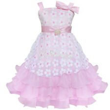 Girl's Kids Pageant Dress Toddler Princess Party Wedding Flower Bow Tulle Dress