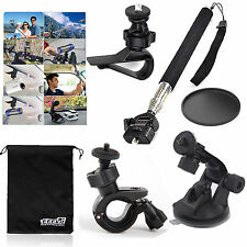EEEKit Accessries Bundle Kit for Action Sports Cameras Monopod+Car Suction mount