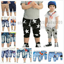 Kids Boys Girls Baby Stars Jeans Harem Pants Shorts Toddlers Clothes Age 1-8 T
