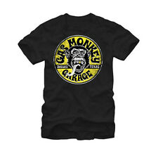 Gas Monkey Garage Equipped Logo Circle Licensed NWT Adult T-Shirt - Black
