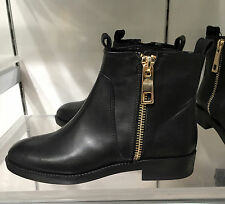 ZARA BASIC LEATHER ANKLE BOOTS 36-41 Ref. 3107/001