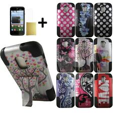 For ZTE Majesty Z796C N9511 Phone Case+Soft Cover Kickstand Screen Protector P3