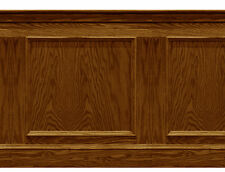 Dolls House Wainscot Peel & Stick Quality Vinyl panel 1/12th or 1/24th Med Oak