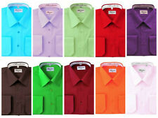 Berlioni French Convertible Dress Shirts Quality Italian design front pocket
