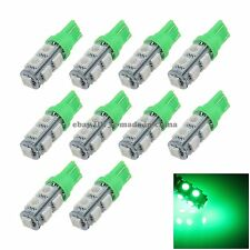 10 X T10 168 194 W5W 9 SMD 5050 LED Car Clearance Lamp Side Light Bulb 12V