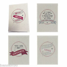 EAST OF INDIA VALENTINES DAY LOVE LOVER ANNIVERSARY WIFE HUSBAND GREETING CARD