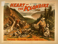 Photo Print Vintage Poster: Stage Theatre Flyer Heart Of The Klondike 01