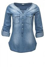Neu by ONLY Jacqueline de Yong Damen Jeans Bluse Women Wyre Placket Denim Shirt