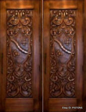 CUSTOMIZED Exterior SINGLE or DOUBLE ENTRY SOLID WOOD FRONT DOOR. TOP QUALITY!