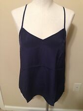 NWT Lilly Pulitzer Dusk Top in True Navy Silk Cami Strappy NEW NWT