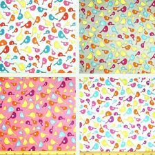 Lovely Birds Small And Large Toss Hearts 140cm Wide 100% Cotton Fabric