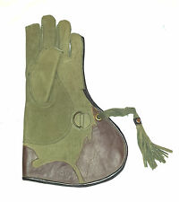 NUBUCK LEATHER FALCONRY GLOVE 2 LAYER ,GENUINE THICK LEATHER VARIOUS SIZES.