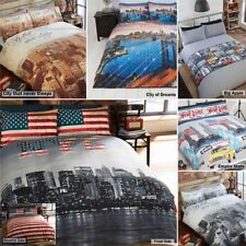 New York City Skyline Bedding Duvet Quilt Cover with Pillowcases in 3 Designs