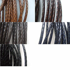 New 2/5 Meters 5mm Round Wrapped Snake Skin Embossed Imitation Leather Cord