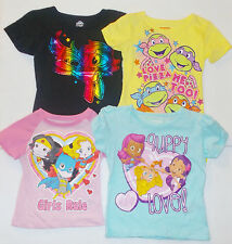 Bubble Guppies My LIttle Pony TMNT ETC T-Shirts Toddler Girls Various Sizes NWT