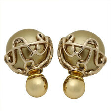 GUST New Fashion Vintage Elegant Round Double-Sided Stud Earrings Two Sided E210
