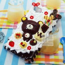 Kawaii Whip Cream Bear Unique Hand Craft Bling Hard Skin Case Cover For iPhone