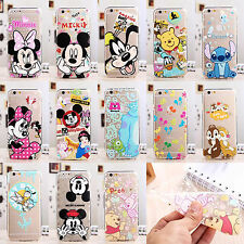 Ultra Thin Cartoon Soft TPU Crystal Clear Case Cover for iPhone Samsung Galaxy