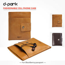 d-park Genuine Leather Pouch Case Sleeve Cover For Blackberry Passport Q30