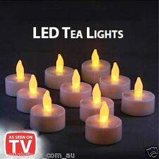 LED TEA LIGHT TEALIGHT CANDLE FLAMELESS FLICKERING WEDDING BATTERY INCLUDED NEW