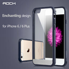 For iPhone 6 4.7 Plus 5.5 Shockproof Hybrid Transparent Slim Clear Hard Case+SCP